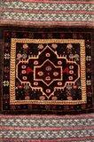 Africa, Tanzania, Zanzibar, Stone Town. Close-up of hand-made carpet. Art Print