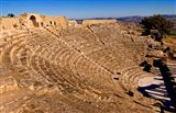 Historical 2nd Century Roman Theater ruins in Dougga, Tunisia, Northern Africa Art Print