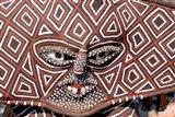 Painted Geometric Mask, Zimbabwe Art Print