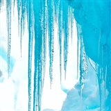 Antarctica Close-Up Of An Iceberg With Icicles Art Print