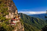 Tiger's Nest, Goempa Monastery Hanging In The Cliffs, Bhutan Art Print