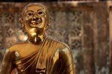 Chaukhtatgyi Temple with golden figure, Yangon, Burma, Myanmar Art Print