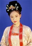 Chinese Woman in Tang Dynasty Dress, China Art Print