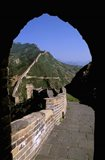Great Wall of China Viewed through Doorway, Beijing, China Art Print