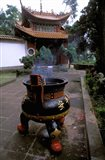 Temple and Incense Burning, Bamboo Village, Kunming, Yunnan Province, China Art Print