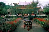 Temple Beauty of Bamboo Village, Kunming, China Art Print