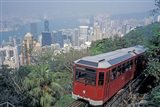 The Peak Tram, Victoria Peak, Hong Kong, China Art Print