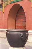 Fire Kettle by Doorway of the Palace Museum, Beijing, China Art Print