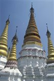 Gold Pagoda Spires of the Golden Temple, China Art Print