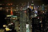 Skyscrapers of Victoria Harbor, Hong Kong, China Art Print