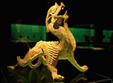 China, Shanghai, Bixie Mythical Beast Statue Art Print