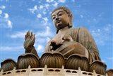 Tian Tan Buddha Statue, Ngong Ping, Lantau Island, Hong Kong, China Art Print