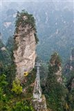 Cable Car To Yellow Stone Stronghold Village, Zhangjiajie National Forest Park, Hunnan, China Art Print