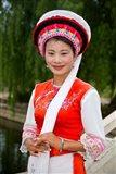 Bai Minority Woman in Traditional Ethnic Costume, China Art Print