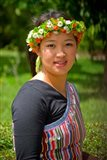 China, Yunnan, Young Dulong Portrait with Ethnic Costume Art Print