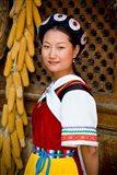 Naxi Minority Woman in Traditional Ethnic Costume, China Art Print