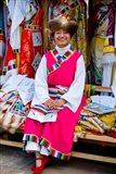 Withtibetan Traditional Clothing Display, Yunnan Province, China Art Print