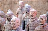 Terra Cotta Warrior Heads, Xian, Shaanxi, China Art Print