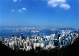Majestic Hong Kong Harbor from Victoria Peak, Hong Kong, China Art Print