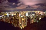 Hong Kong Skyline from Victoria Mountain, China Art Print