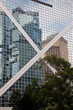 Reflections On Building, Hong Kong, China Art Print