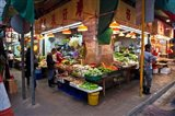 Street Market Vegetables, Hong Kong, China Art Print