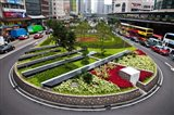 Garden Roundabout, Hong Kong, China Art Print