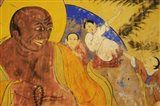 Colorful Wall Painting, Thiksey, Ladakh, India Art Print
