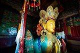 Golden Maitreya Buddha, Thiksey Monastery, Thiksey, Ladakh, India Art Print