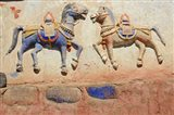 India, Ladakh, Thiksey, Indian and Buddhist gods Art Print