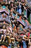 Hindu Figurines on Temple, Bangalore, India Art Print