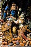 Hindu Temple, Bangalore, India Art Print