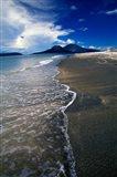 Asia, Indonesia, Krakatau Volcano Beach scene Art Print