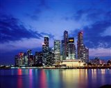 Singapore Skyline at Night Art Print