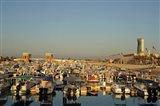 Kuwait, Kuwait City, yacht boats in pleasure port Art Print