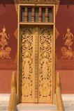 Temple Door, Laos Art Print