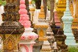 Grave Stupas at Wat Si Saket, Vientiane, Laos Art Print