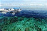 Diving Boat, Sipadan, Semporna Archipelago, Borneo, Malaysia Art Print