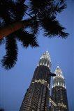 Malaysia, Petronas Twin Towers, Modern buildings Art Print