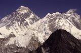 Mt. Everest seen from Gokyo Valley, Sagarnatha National Park, Nepal. Art Print