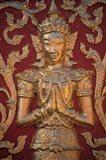 Gold Leafed Deatil at Wat Doi Suthep, Chiang Mai, Thailand Art Print