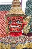 Buddhist mythology yaksa, Temple of the Emerald Buddha, Bangkok, Thailand Art Print