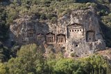 Turkey, Dalyan, Mugla Province The Six Lycian Rock-Cut Tombs Art Print