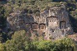 Turkey, Dalyan, Mugla Province The Six Lycian Rock-Cut Tombs Art Print
