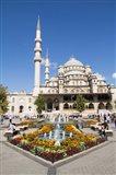 Turkey, Istanbul The Exterior Of Yeni Cami Mosque Art Print