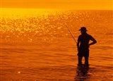 Fishing, Surfer's Paradise, Australia Art Print