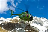 New Zealand, Arrowsmith Range, Helicopter Art Print