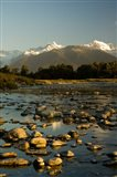 New Zealand, Mt Tasman, Mt Cook, Clearwater River Art Print