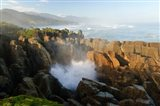 New Zealand, Paparoa NP, Pankace Rocks blowhole Art Print