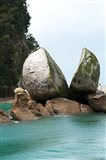 Split Apple Rock, South Island, New Zealand Art Print